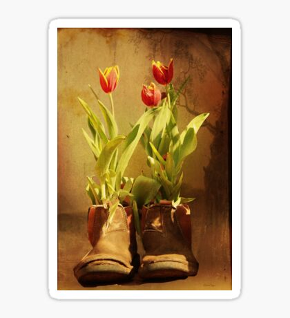 Tulips in Boots Sticker