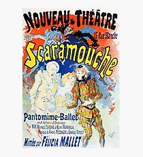 Vintage Jules Cheret 1896 Scaramouche Photographic Print
