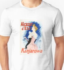Vintage Jules Cheret 1896 Kanjarowa T-Shirt
