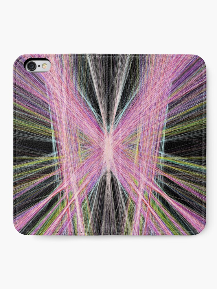 Alternate view of Linify Pink butterfly iPhone Wallet