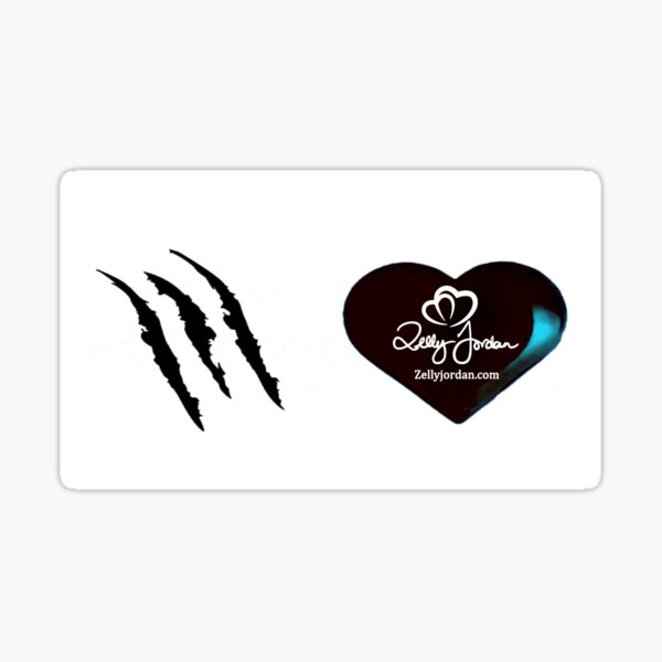 Black Heart Logo and Scratches Sticker
