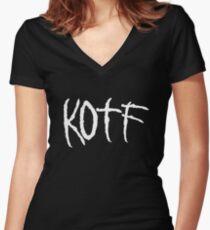 KOTF (WHITE FONT) Women's Fitted V-Neck T-Shirt
