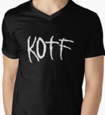 KOTF (WHITE FONT) Men's V-Neck T-Shirt