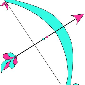Pink and teal Bow and Arrow by MMEIRI1