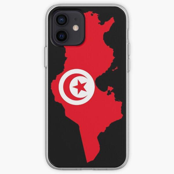 Carte du drapeau de la Tunisie Coque souple iPhone