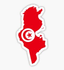 Tunisia Flag Map Sticker