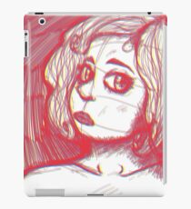 A Girl Modeling iPad Case/Skin