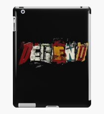 Defend. iPad Case/Skin