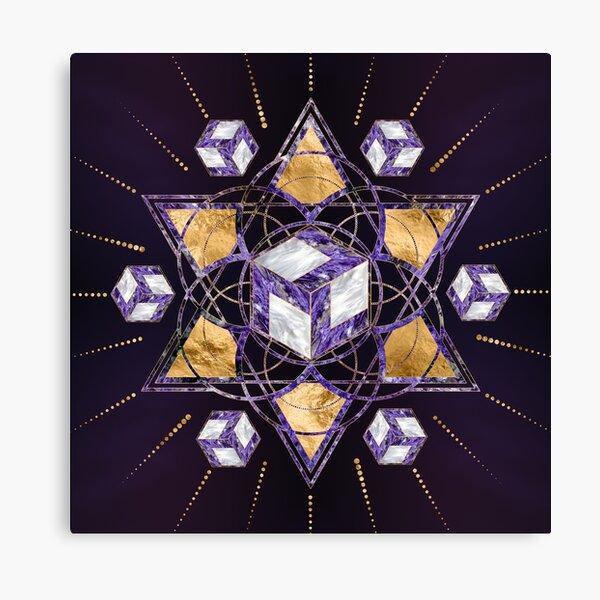 Antahkarana in in Sacred Geometry Ornament Canvas Print