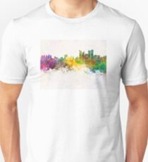 Busan skyline in watercolor background T-Shirt