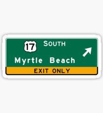 Myrtle Beach, Road Sign, SC Sticker