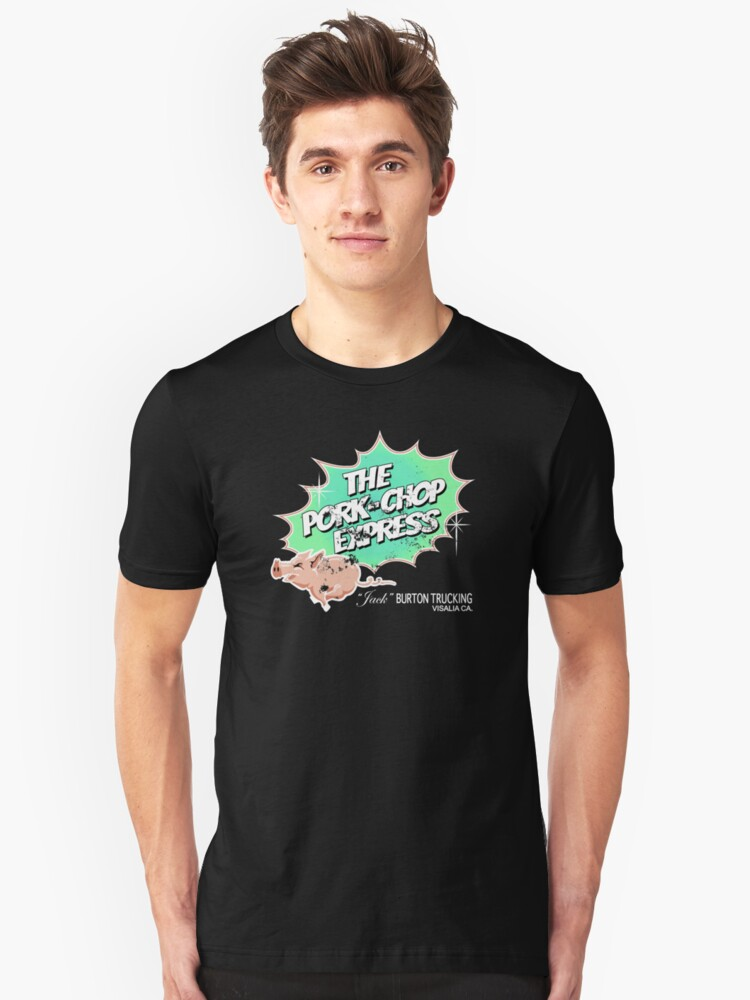 Pork Chop Express - Distressed Extreme Lime Variant Unisex T-Shirt Front