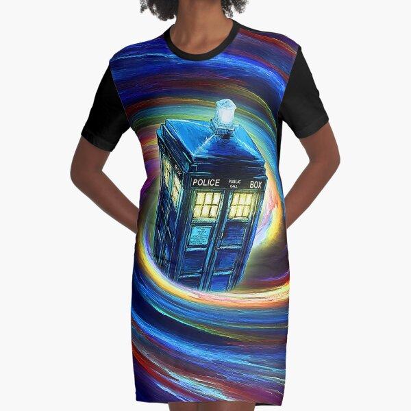 Time Vortex Graphic T-Shirt Dress