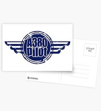 A380 Pilot Postcards