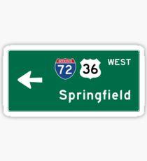 Springfield, Road Sign, IL Sticker