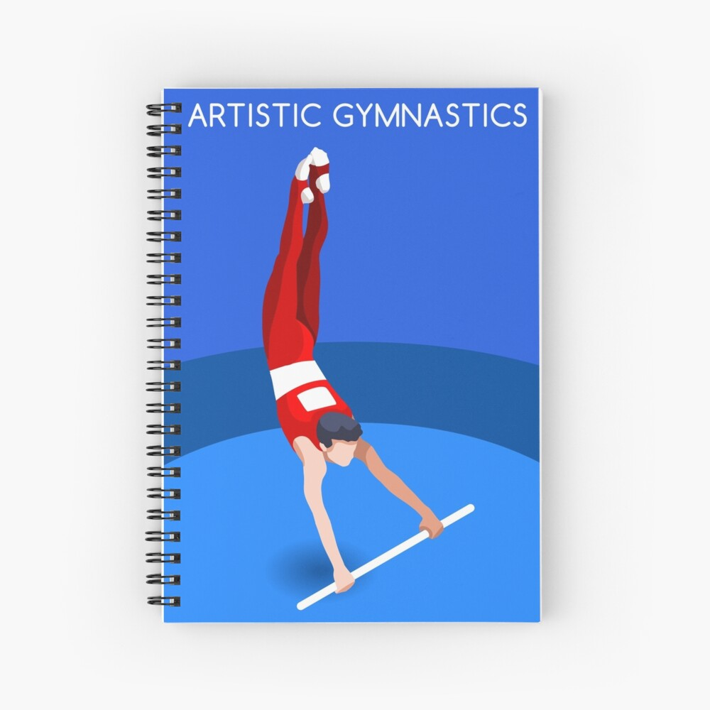 Gymnastics High Bar 2016 Summer Games  Spiral Notebook