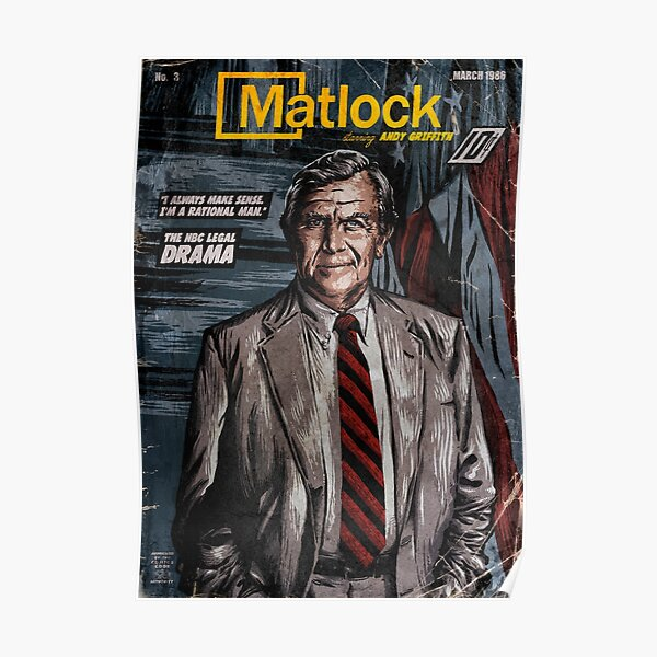 MATLOCK - TV Show Vintage Comic Cover Poster