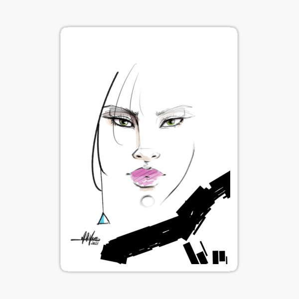 Abstract Beauty Sticker