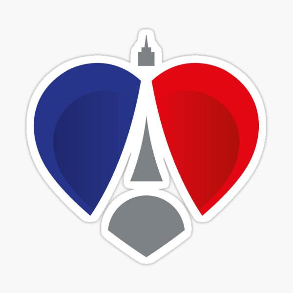 French Heart Sticker