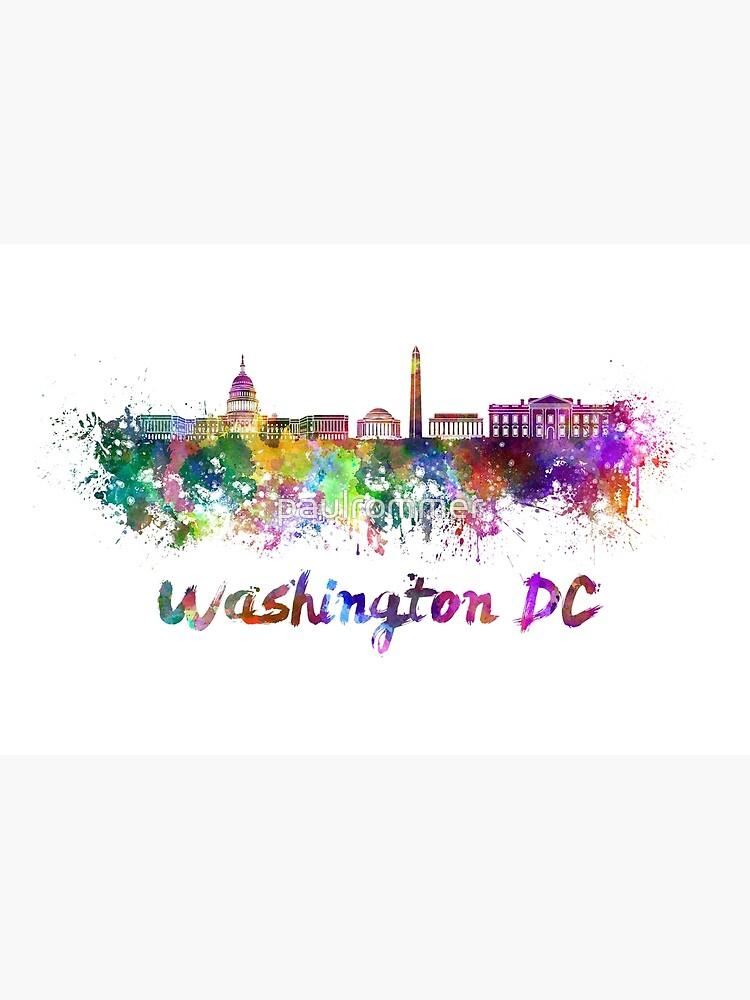 Horizonte de Washington DC en acuarela de paulrommer