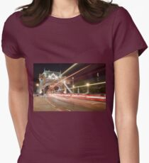 Tower Bridge at night, London Womens Fitted T-Shirt