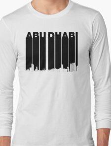 Retro Abu Dhabi Skyline Long Sleeve T-Shirt