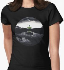 Landing on Zebes A Metroid Surrealism Women's Fitted T-Shirt