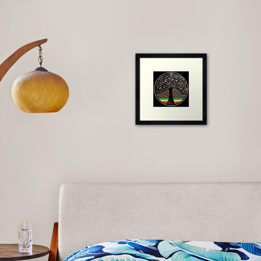 Mijumi Rasta Tree Framed Art Print