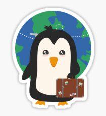 Penguin world traveler   Sticker