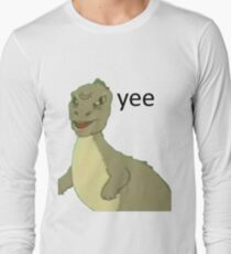 Yee [dinosaur maym :^)] (version 1, video quality, black text) Long Sleeve T-Shirt