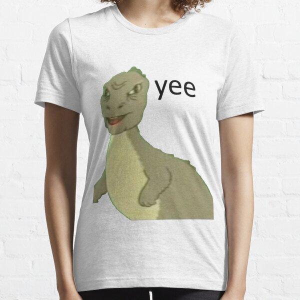 Yee [dinosaur maym :^)] (version 1, video quality, black text) Essential T-Shirt