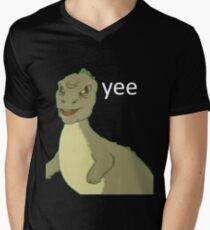 Yee [dinosaur maym :^)] (version 1, video quality, white text) T-Shirt