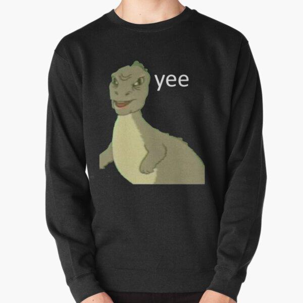 Yee [dinosaure maym: ^)] (version 1, qualité vidéo, texte blanc) Sweatshirt épais