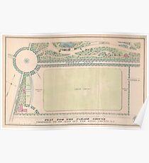 Vintage Map of Prospect Park (1868) Poster