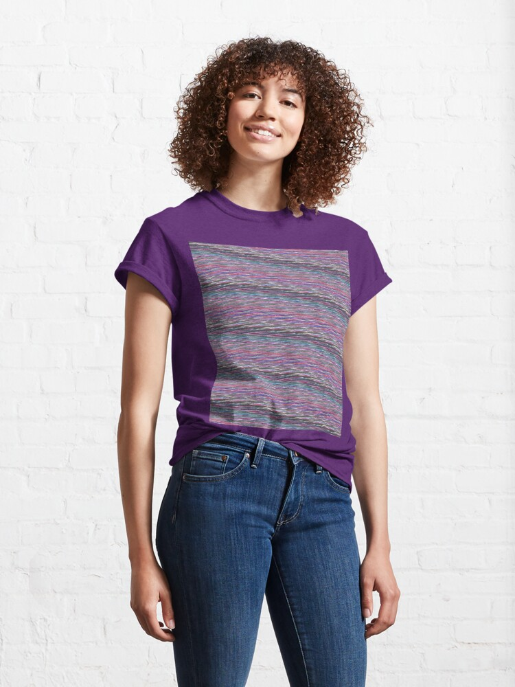 Alternate view of Colorful Static Classic T-Shirt