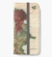 Vintage Map of San Francisco California (1869) iPhone Wallet/Case/Skin