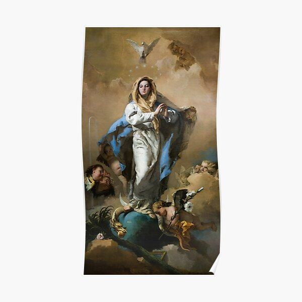The Immaculate Conception of Mary by Giovanni Battista Tiepolo Poster