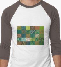 Euca Abstract (Flat Detail Section 1) Men's Baseball ¾ T-Shirt