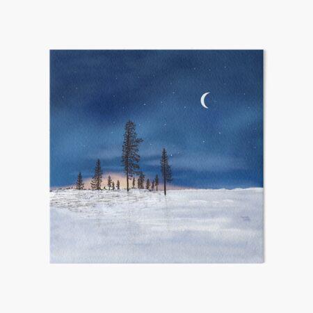 Kaamos in Lapland - Lapland8seasons Art Board Print