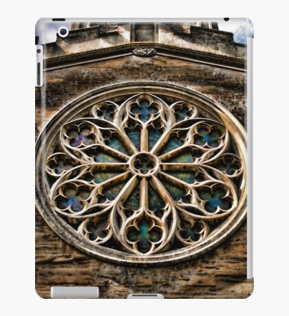 Round Stained Glass Church Window HDR  iPad Case/Skin