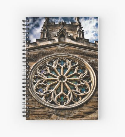 Round Stained Glass Church Window HDR  Spiral Notebook