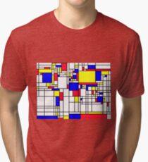 LARGE MONDRIAN Tri-blend T-Shirt