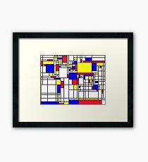 LARGE MONDRIAN Framed Print