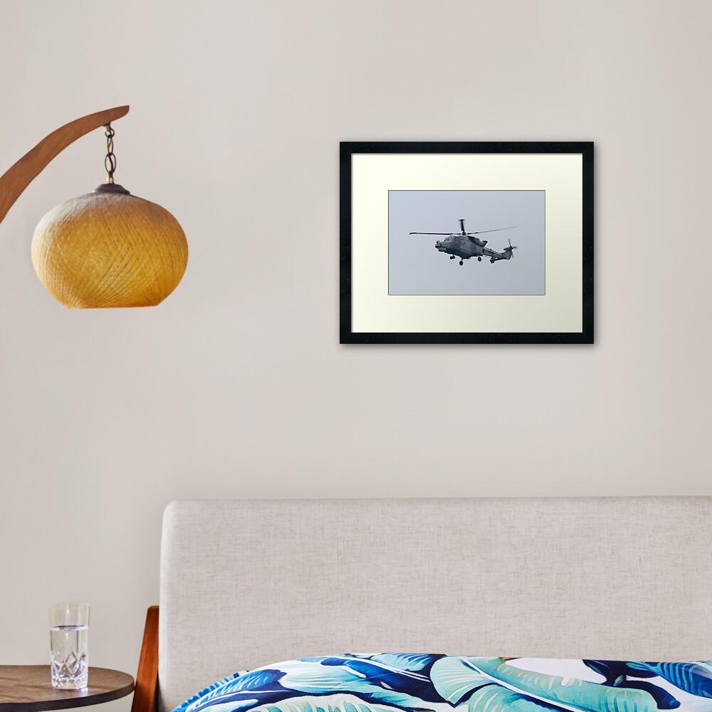 Royal Navy Lynx Helicopter Framed Art Print