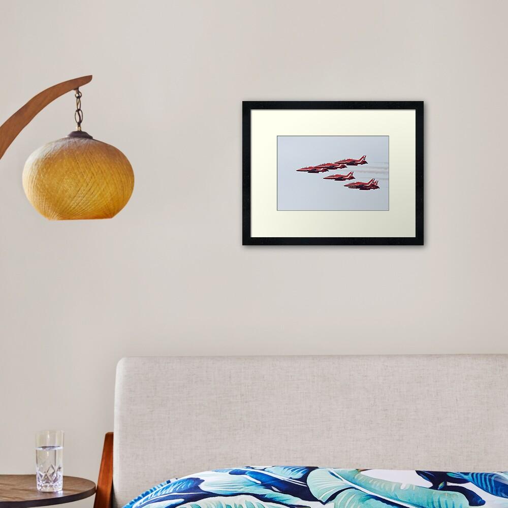 RAF Red Arrows Aerobatic Display Team Framed Art Print
