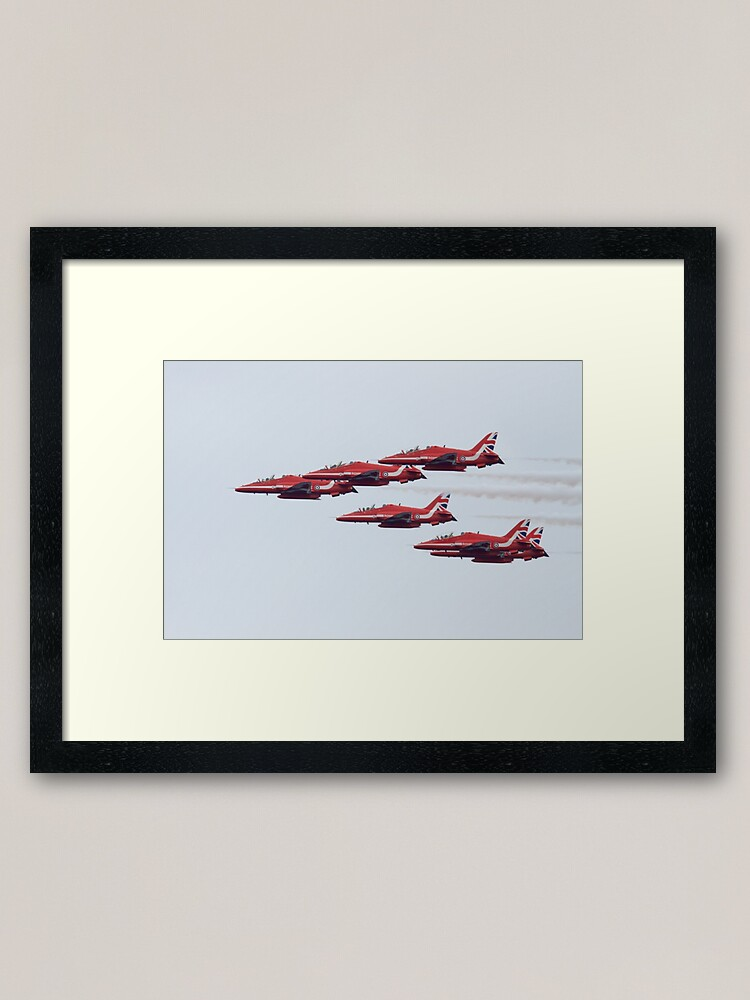 Alternate view of RAF Red Arrows Aerobatic Display Team Framed Art Print
