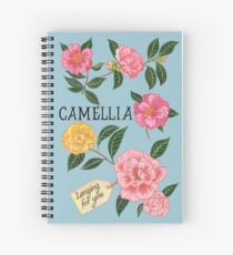 Camellias Spiral Notebook