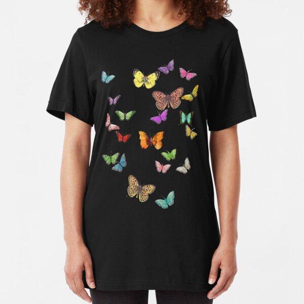Butterflies Slim Fit T-Shirt