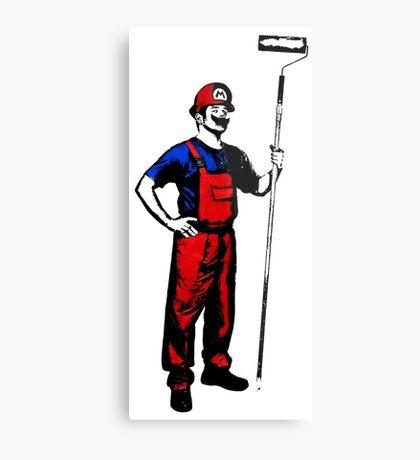 Mario Stencils Metal Print