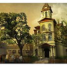 Vintage Cabarrus County Courthouse by 1SG Little Top
